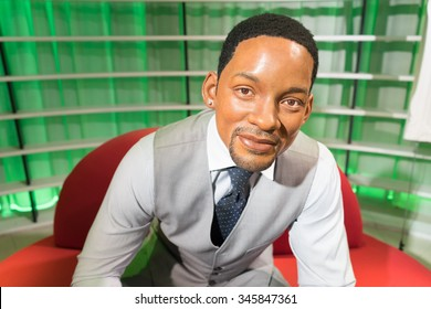 BANGKOK, THAILAND - CIRCA August, 2015: Wax figure of the famous Will Smith from Madame Tussauds, Siam Discovery, Bangkok