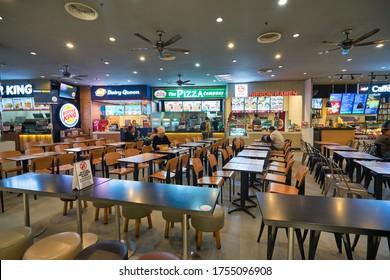 BANGKOK, THAILAND - CIRCA JANUARY, 2020: food court at Suvarnabhumi Airport.