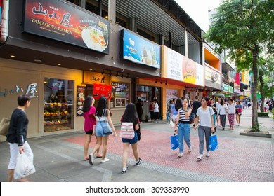 BANGKOK, THAILAND - CIRCA JULY, 2015: Unidentified tourists in Siam square area. Siam square is popular among teen and tourists.