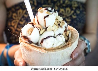 Bangkok, Thailand - coconut icecream
