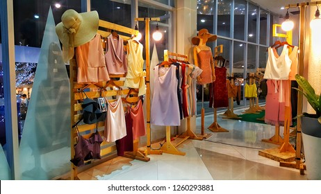 Bangkok, THAILAND Dec 04, 2018:  Women's Clothing Store in Department Store.