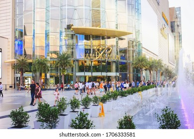 BANGKOK, THAILAND - DEC 10 : Siam Paragon Shopping Center on December 10, 2019 in Bangkok, Thailand. Siam Paragon is one of the most popular shopping centers in Asia. Opened on December 9, 2005.