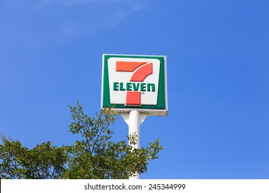 Bangkok, Thailand - Dec 20, 2014 : 7-Eleven, convenience store with largest number of outlets in Thailand.
