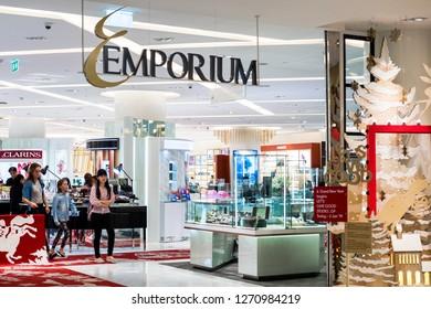 BANGKOK, THAILAND - DEC 28 : Emporium Shopping Mall on December 28, 2018 in Bangkok, Thailand. It is one of popular shopping center connected to Emquartier.