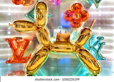 BANGKOK -THAILAND: DEC 9,2017: The new collection of Masters Louis Vuitton Manet by Artist Jeff Koons display at Siam Paragon shopping mall in Bangkok