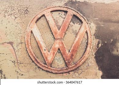 Bangkok Thailand, DECEMBER 10, 2015: Volkswagen VW Badge Detail