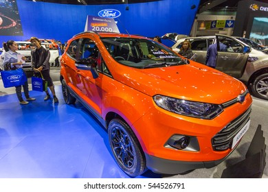 Bangkok, Thailand - December 11, 2016 :  Ford car at Thailand International Motor Expo 2016 (MOTOR EXPO 2016) on December 11,2016 in Bangkok, Thailand.