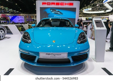Bangkok, Thailand - December 11, 2016 :  Porsche car at Thailand International Motor Expo 2016 (MOTOR EXPO 2016) on December 11,2016 in Bangkok, Thailand.