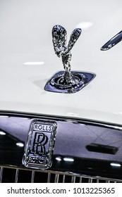 BANGKOK THAILAND DECEMBER 13 2017  Picture of Rolls Royce spirit ecstacy sculpture on the front of Rolls Royce car on December 13