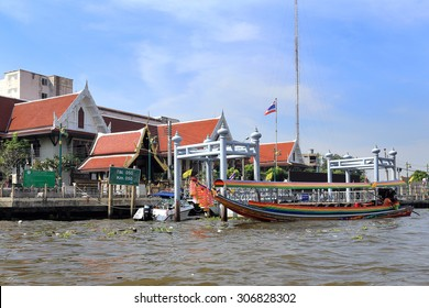 BANGKOK, THAILAND - December 15, 2014: Boating on the Chao Phraya River on December 15, 2014 in Bangkok, Thailand