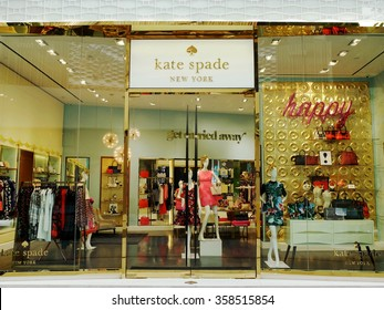 BANGKOK, THAILAND - DECEMBER 19 2015: Kate Spade New York retail shop in Bangkok. Kate Spade New York is an American fashion design house founded in January 1993.
