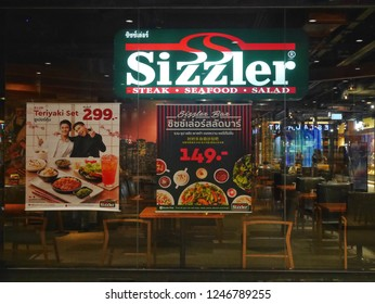 Bangkok, Thailand - December 2, 2018 : Sizzler restaurant at Siam Center shopping mall.