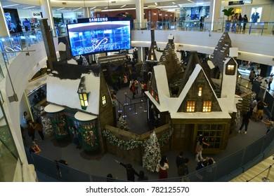bangkok thailand december 23 2017 small hogsmeade village building in harry potter