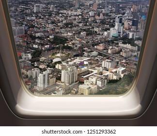 BANGKOK, THAILAND - DECEMBER 23: Aerial view of Bangkok on December 23, 2013 in Bangkok.