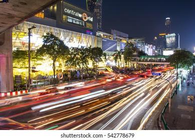Bangkok, Thailand - December 25, 2016 : Christmas Celebration 2017 at Central World, Christmas day and Happy new year event in Bangkok, Thailand