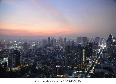 Bangkok, Thailand – December 25, 2018: Bangkok Cityscape, Thailand, Asia