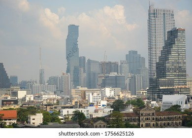 BANGKOK, THAILAND - December 27, 2018: Beautiful view from IconSiam shopping mall