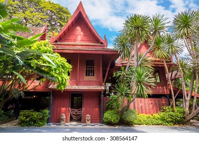 BANGKOK, THAILAND - DECEMBER 30: Jim Thompson Museum in Bangkok, Thailand on December 30, 2014. House of the founder of Jim Thompson Thai Silk Company. He disappeared on a trip in Malaysia in 1967