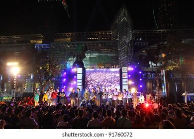 bangkok thailand december 31 happy new year 2012 new year celebrations taking place
