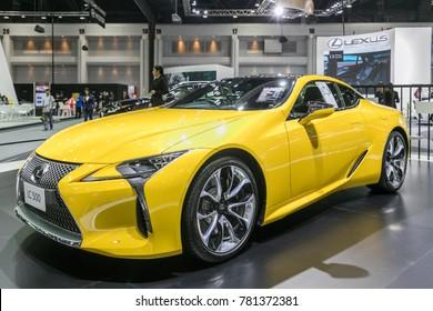 BANGKOK THAILAND - December 7, 2017 :  Lexus lc 500 car,Luxury cars show in Bangkok International Thailand Motor Show 2017 The Biggest car event in thailand at IMPACT Challenger , Nonthaburi,Thailand.