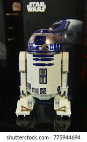 Bangkok, Thailand - December 9, 2017: Mini BB-8 Robot Model from Star Wars Episode VIII The Last Jedi at the theater