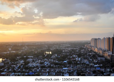Bangkok at thailand, Evening sunset with twighlight time