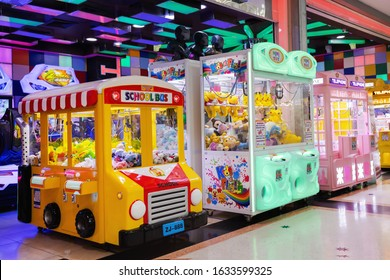 BANGKOK, THAILAND - FEB 1: Fun Planet at Central Rama II on February 1, 2020 in Bangkok. Fun Planet is located in Kid Zone at 6th floor, Central RAMA II.