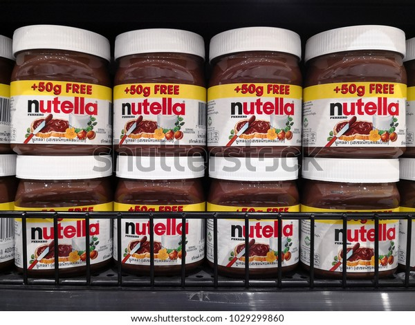 Bangkok Thailand Feb 13 2018 Nutella Stock Photo (Edit Now) 1029299860
