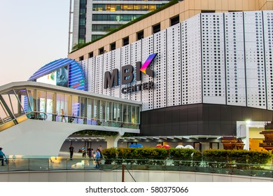 BANGKOK, THAILAND - FEB 15:  New MBK Shopping Center after renovated on February 15, 2017 in Bangkok, Thailand. MBK is one of the most popular shopping malls in Bangkok.