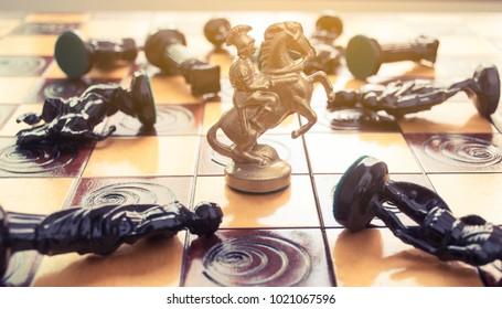 Bangkok, Thailand : Feb 2018. Chess board game in strategic business concept.