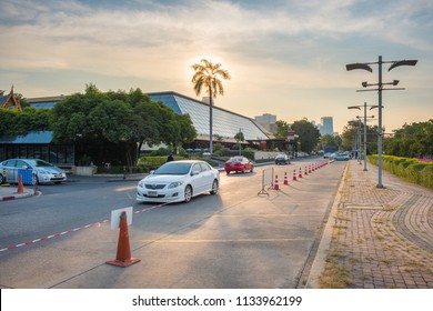 Bangkok, Thailand - February 10, 2017: Queen Sirikit National Convention Center. It is a convention center and exhibition hall located in Bangkok, Thailand