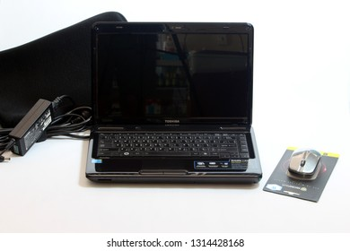 BANGKOK, THAILAND- February 13, 2019 : TOSHIBA Satellite L640 Computer Laptop display at a local retail location in Thailand.
