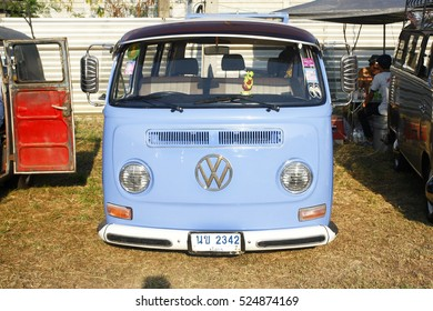 BANGKOK, THAILAND - February 13 : Volkswagen retro vintage car display in Siam VW festival 2016 on February 13,2016 in Bangkok, Thailand.