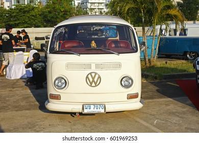 BANGKOK, THAILAND - February 13 : Volkswagen retro vintage car display in Siam VW festival 2016 on February 13,2016 in Bangkok, Thailand.