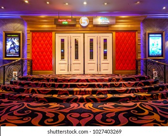 BANGKOK Thailand  - February 16, 2018 :Entrance to the cinema  Major Cineplex in Rangsit on February 16, 2018  in Bangkok, Thailand
