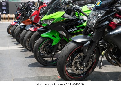BANGKOK, THAILAND - February 17, 2019 : BigBike Motorcycle at Bangkok Motorbike Festival 2019, Central World.