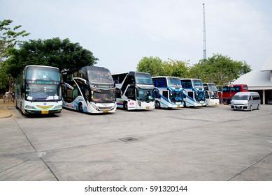 Bangkok, Thailand, February 28, 2017 bus used to transport tourists, Bangkok, Thailand.