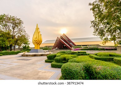 Bangkok, Thailand - February 29, 2016: Queen Sirikit National Convention Center. It is a convention center and exhibition hall located in Bangkok, Thailand