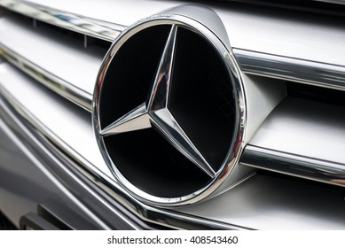 BANGKOK, THAILAND - FEBRUARY 29, 2016 : Mercedes Benz C-200, compact luxury car line production from German automobile manufacturer.
