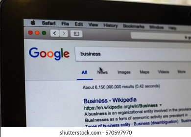 "Bangkok. Thailand. February 3, 2017 : "" GOOGLE"" website in search of one of the businesses of Thailand. Bangkok. Thailand."