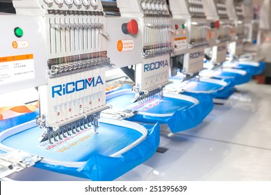 BANGKOK ,THAILAND - FEBRUARY 7: A sewing group specialising in cross  stitch, embroidery At THAILAND Industrial Fair 2015 And Food Pack Asia 2015  on February 7, 2015 in Bangkok, Thailand.
