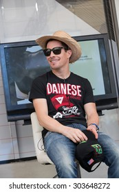 BANGKOK, THAILAND - FEBRUARY 8 : American Nicky Hayden Party Come & Meet - Nicky Hayden , Dainese D-Store Bangkok February 8, 2015.