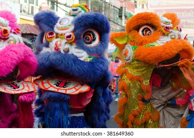 BANGKOK, THAILAND - FEBRUARY 9, 2016: Chinese New Year Celebrations in Bangkok's China town on February 9, 2016 in Bangkok, Thailand.