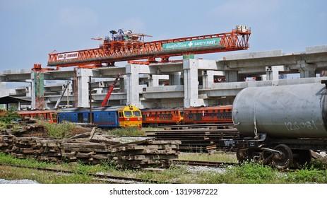 Bangkok, Thailand - February 9, 2019: Construction of Bang Sue Central Station or Bang Sue Grand Station