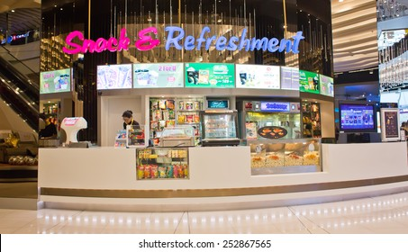 BANGKOK, THAILAND - FEBRUARY 9 : View of Snack & Refreshment Shop of SF Cinema on February 9, 2015 in Bangkok, Thailand. SF Cinema It is the second-largest cinema chain in Thailand.
