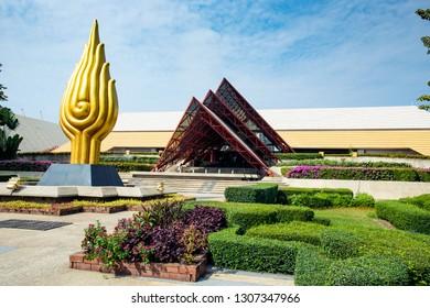 bangkok thailand - february3,2019 : Queen Sirikit National Convention Center in heart of bangkok thailand capital