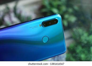 BANGKOK THAILAND : Huawei launch new smartphone Huawei P30 Lite on April 24 ,2019 bangkok ,thailand
