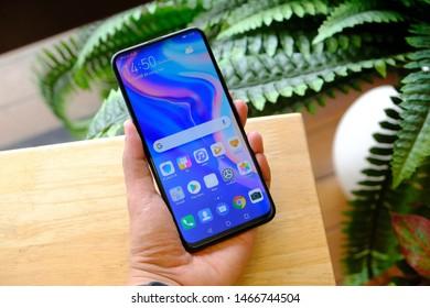 BANGKOK THAILAND : Huawei launch New Smartphone Huawei Y9 Prime 2019 on June 26 ,2019 bangkok ,thailand