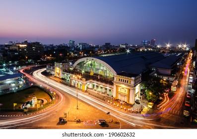 BANGKOK THAILAND , Hulampong Train Center Station in Bangkok Thailand