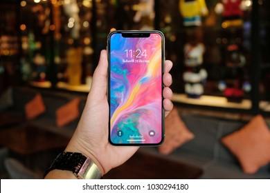 BANGKOK THAILAND : iPhone X launch on december 8 ,2017 bangkok ,thailand